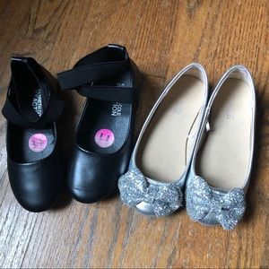 Lot of 2 girls dress shoes- size 11 toddler